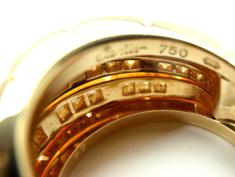 CARTIER Oriane Diamond Yellow Gold Band Ring 7