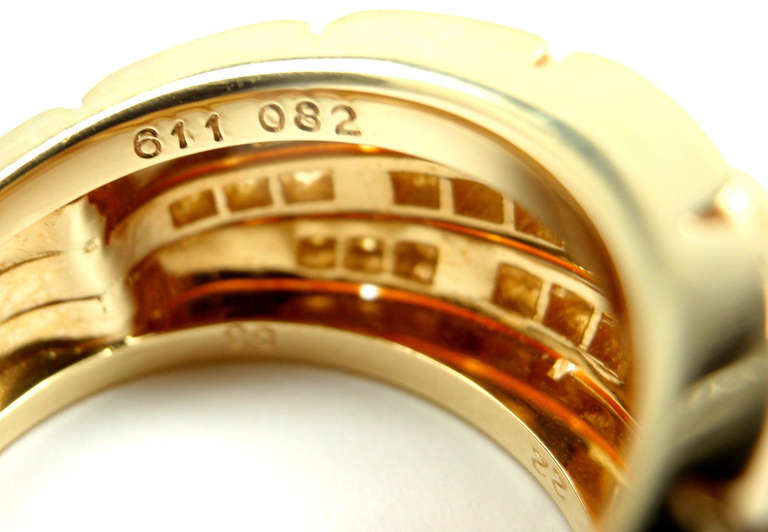CARTIER Oriane Diamond Yellow Gold Band Ring 8
