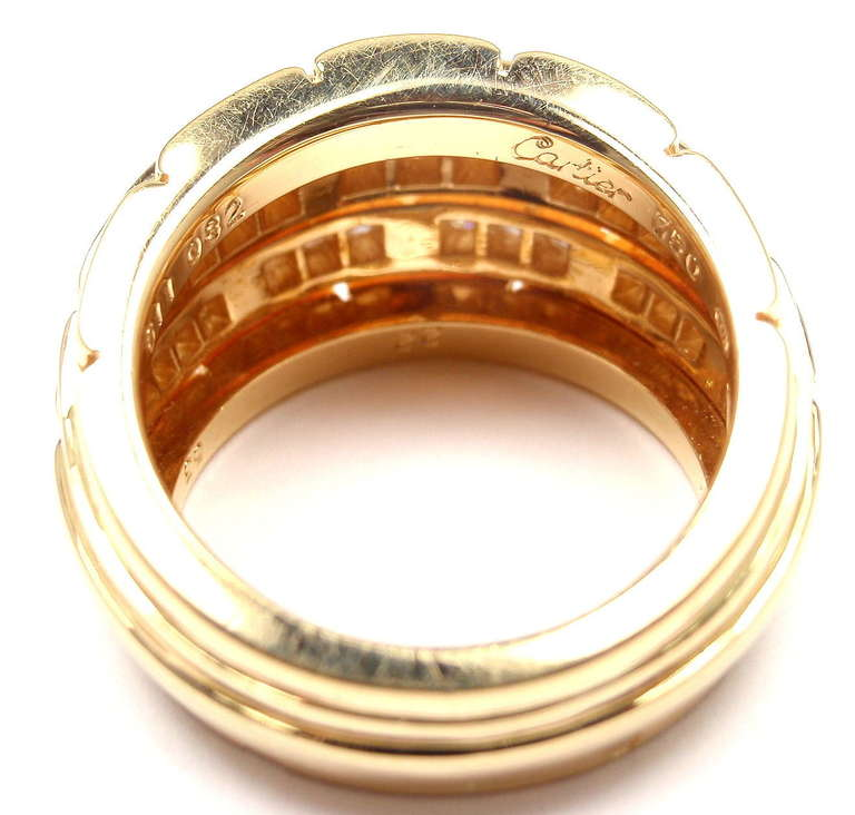 CARTIER Oriane Diamond Yellow Gold Band Ring 9