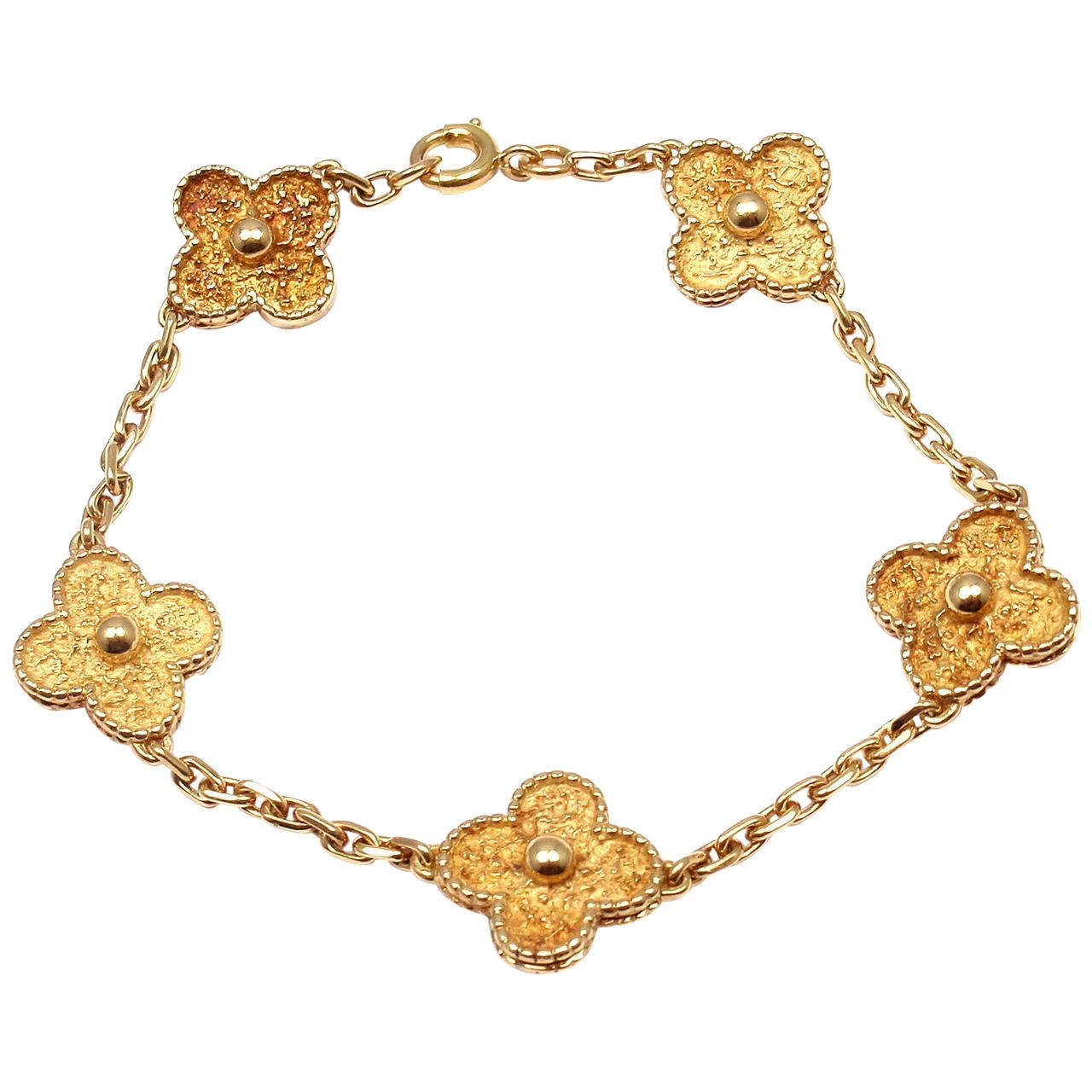 alhambra van gold vcab cleef yellow motifs arpels copy and vintage bracelet