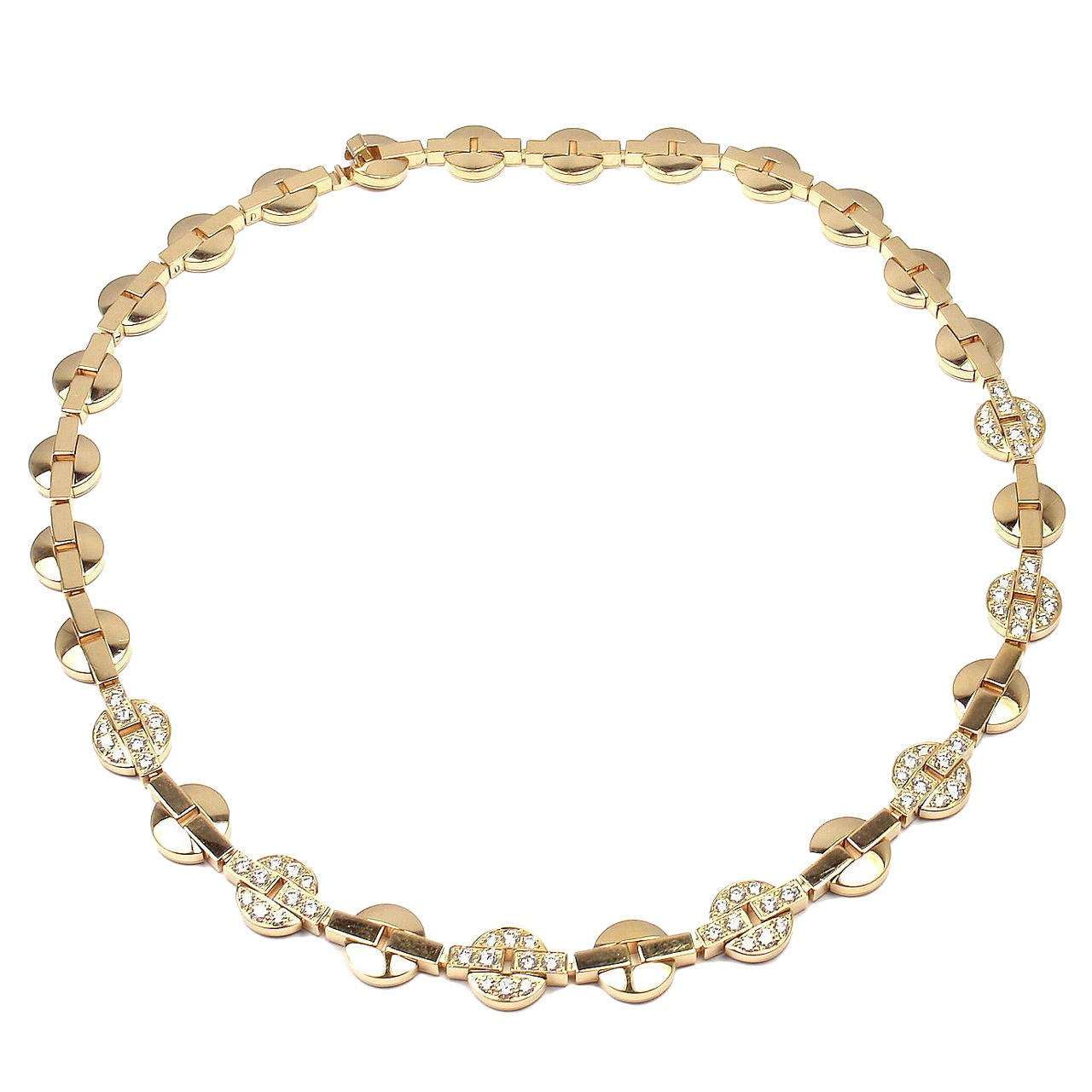Cartier Himalia Diamond Gold Choker Necklace
