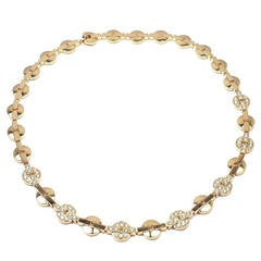 Cartier Himalia Diamond Gold Choker Necklace
