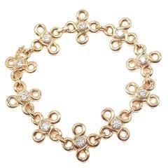 Chanel Diamond Gold Link Bracelet