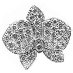 Cartier Caresse D'orchidées Orchid Flower Diamond Gold Cocktail Ring