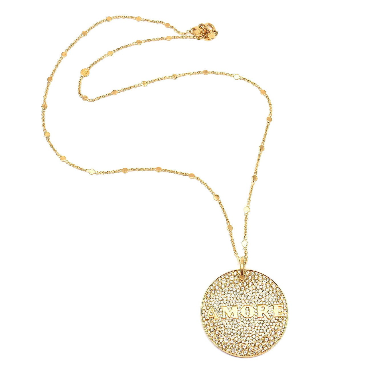 Pasquale Bruni Profondo Amore Gold Pendant Necklace