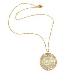 Pasquale Bruni Profondo Amore Gold Pendant Necklace