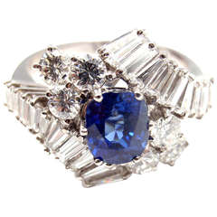 BULGARI Diamond Sapphire White Gold Ring