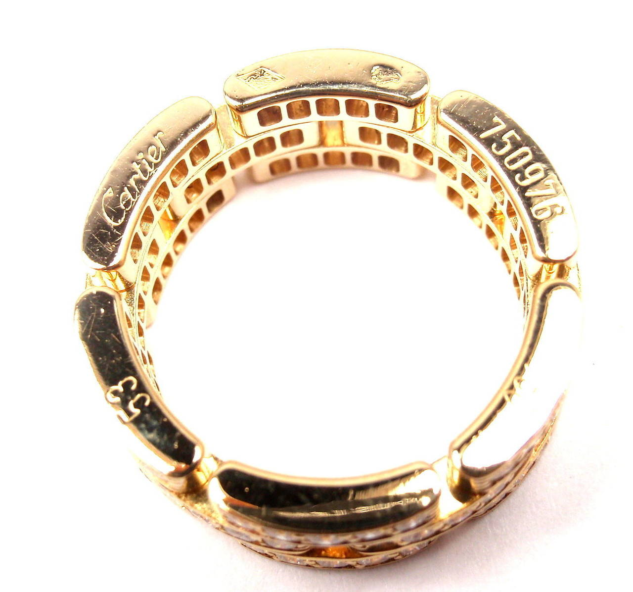 Cartier Infinity Bracelet: Cartier Maillon Panthere Diamond Gold Eternity Band Ring