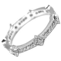 Cathy Waterman Diamond Platinum Geometric Band Ring