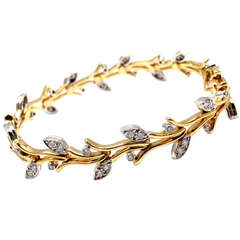 Tiffany & Co. Garland Diamond Platinum 18k Gold Bracelet