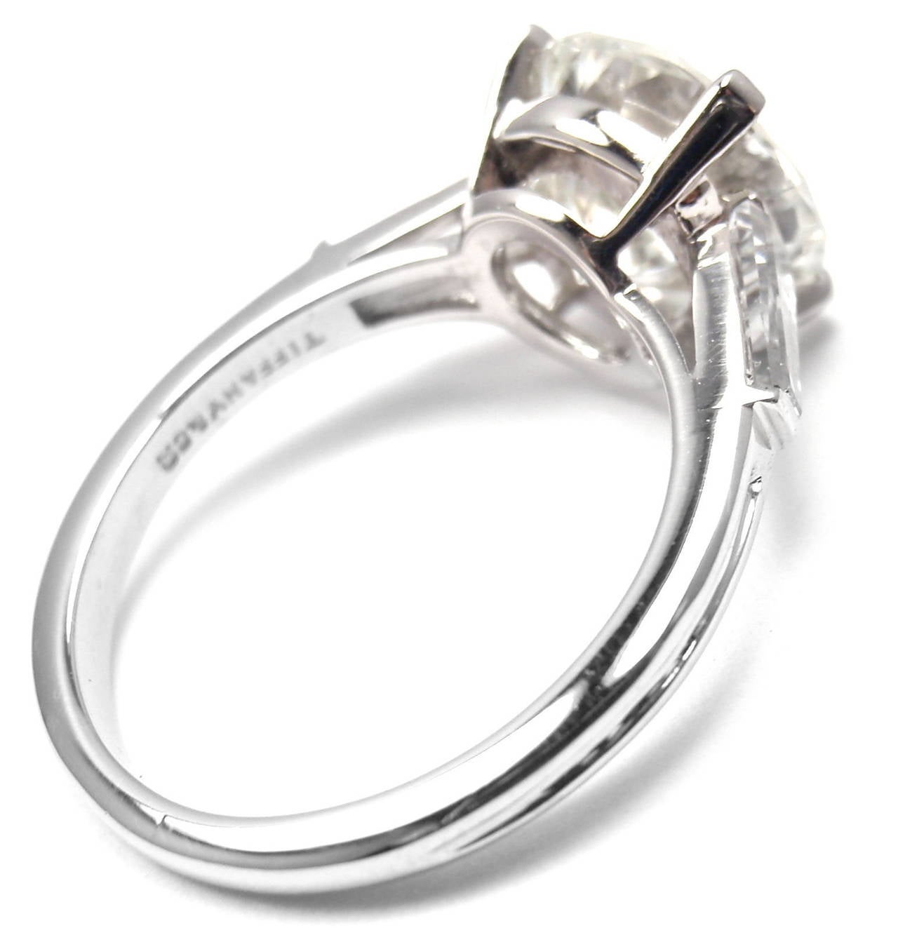 Tiffany and Co 2 72 Carat Diamond Clarity SI1 Color J Platinum Engagement Rin