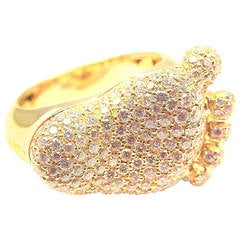 Pasquale Bruni ORME Diamond Gold Baby Foot Ring