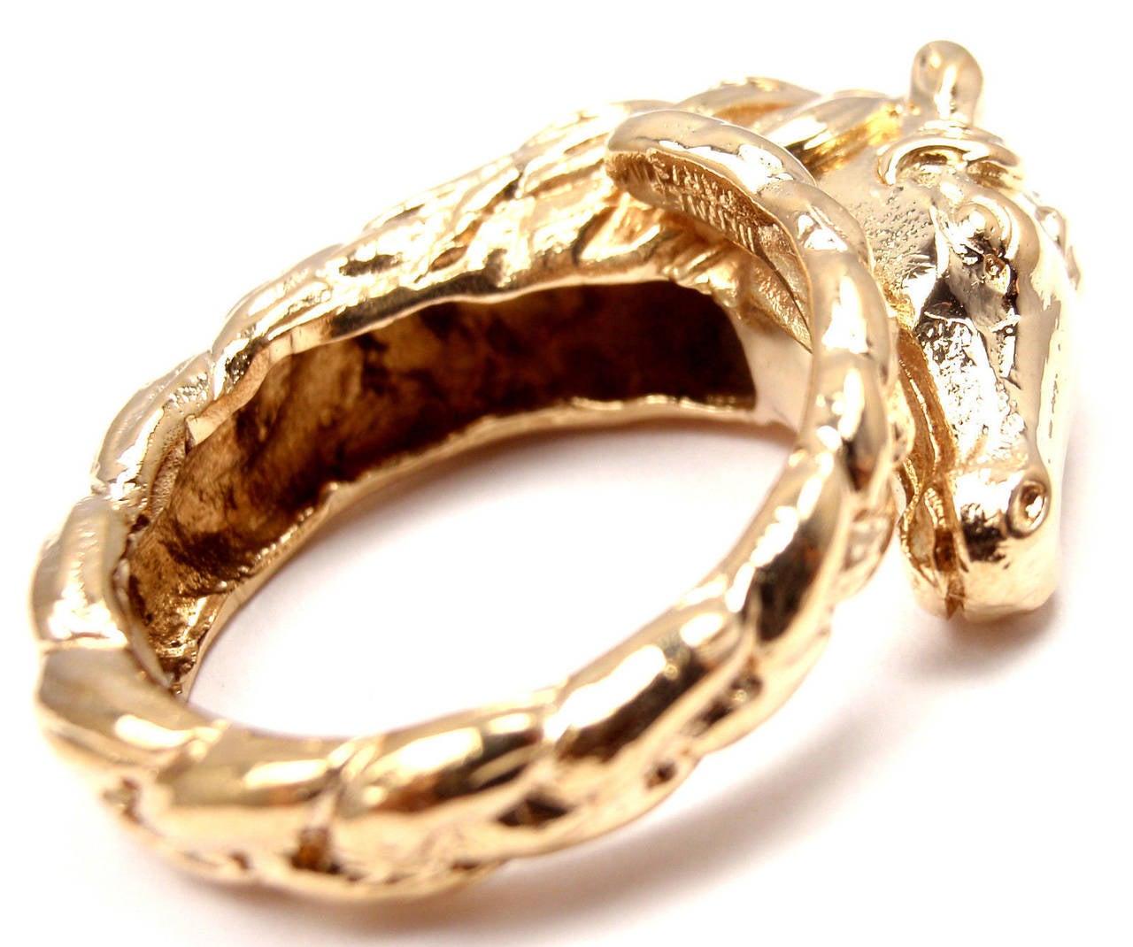Hermes Horse Diamond Ring