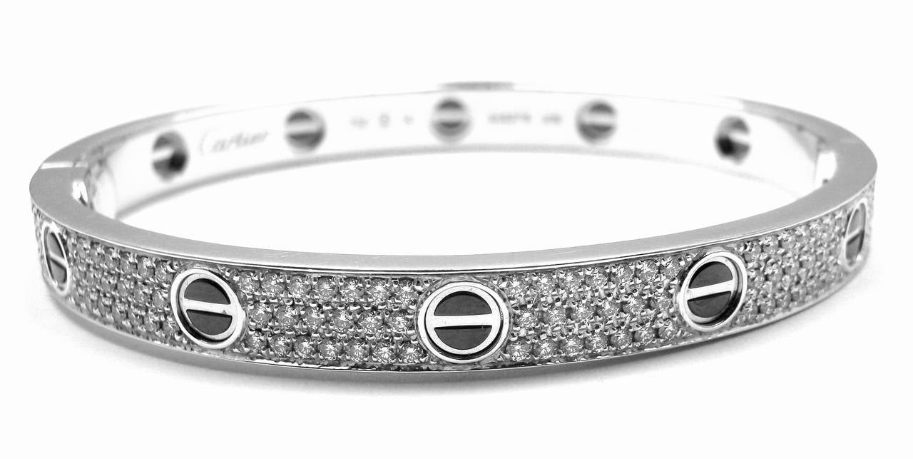 love bracelet i bangles plated link on titanium gold