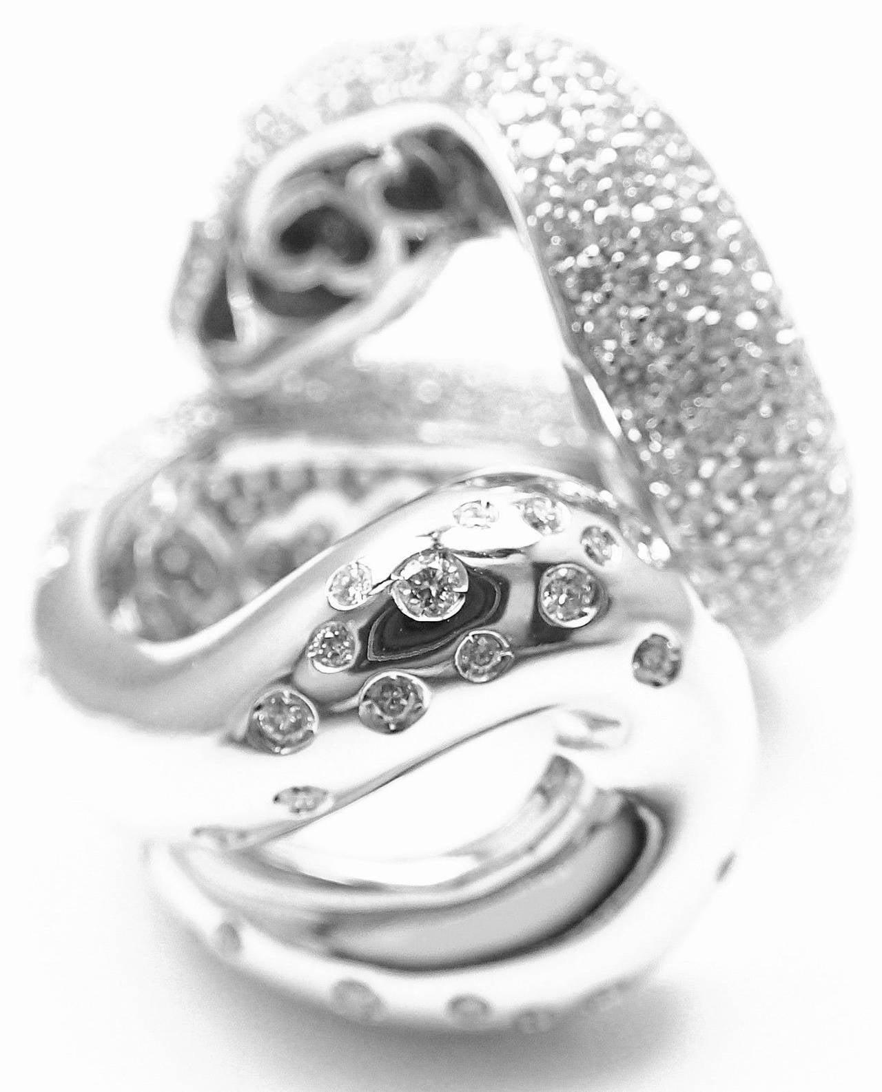 Pasquale Bruni IL PECCATO Diamond Snake White Gold Ring For Sale 3
