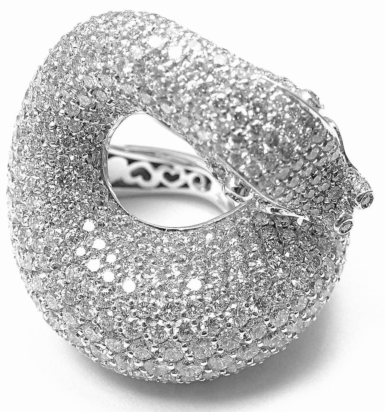 Pasquale Bruni IL PECCATO Diamond Snake White Gold Ring For Sale 4