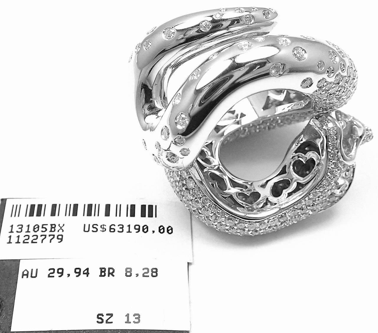 Women's Pasquale Bruni IL PECCATO Diamond Snake White Gold Ring For Sale