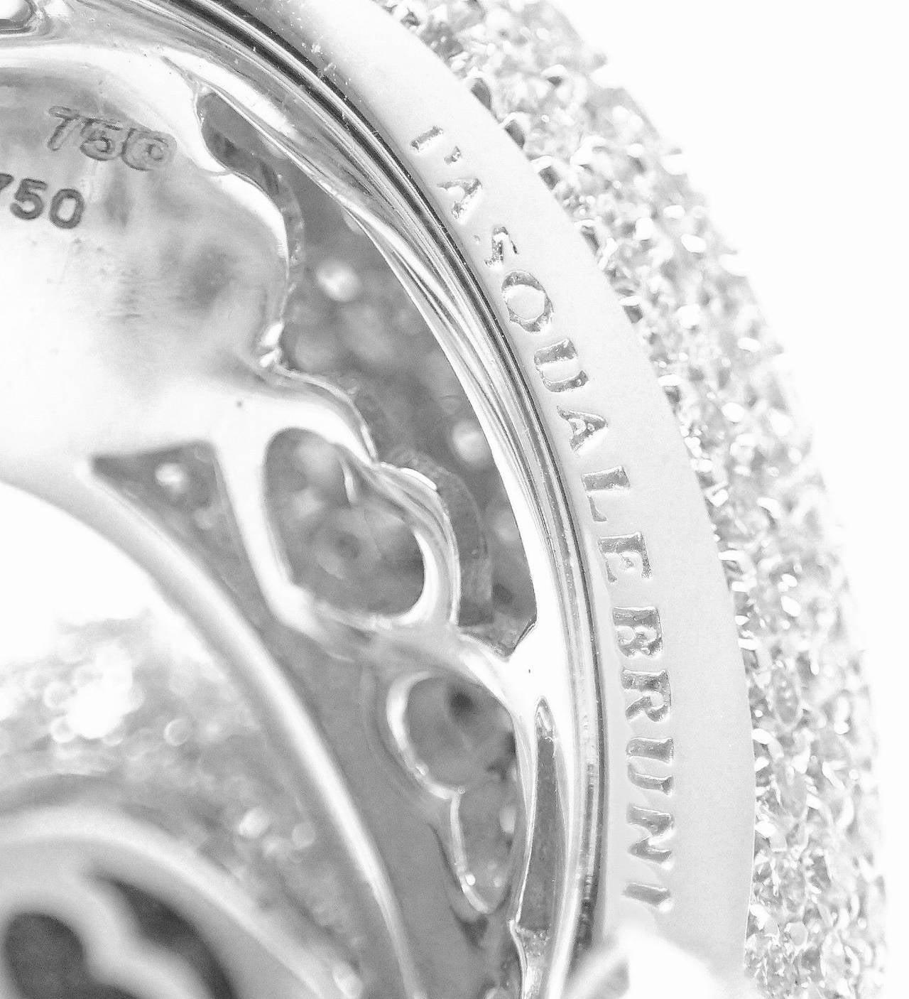 Pasquale Bruni IL PECCATO Diamond Snake White Gold Ring For Sale 2