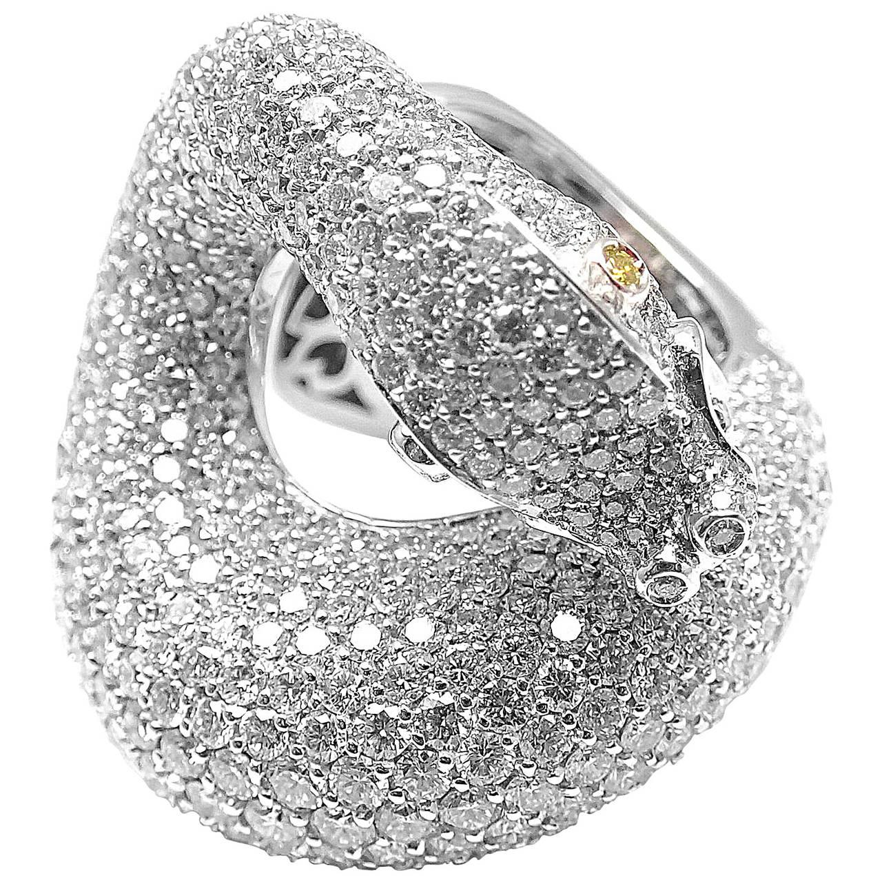 Pasquale Bruni IL PECCATO Diamond Snake White Gold Ring For Sale