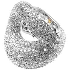 Pasquale Bruni IL PECCATO Diamond Snake White Gold Ring