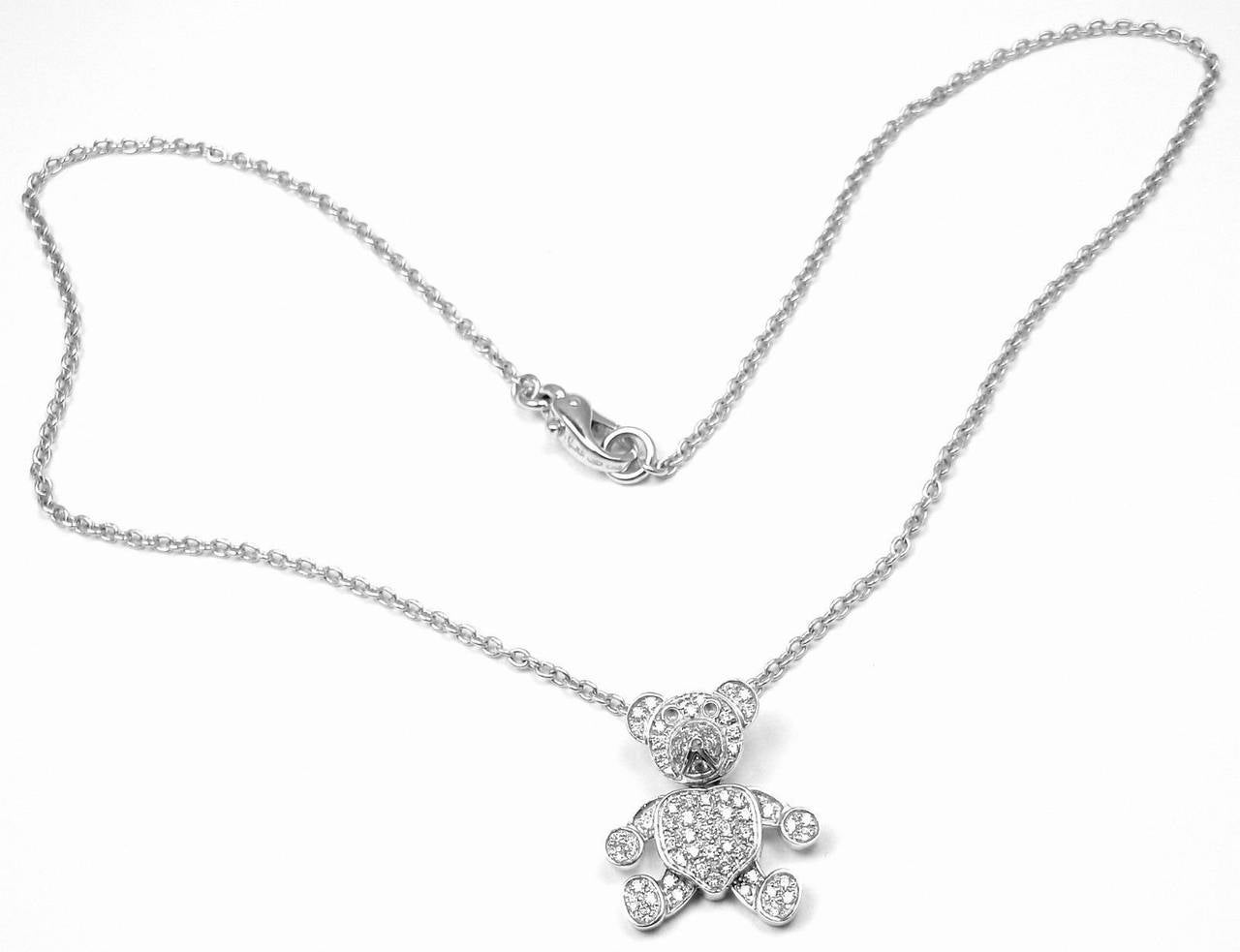 Pomellato Diamond Gold Teddy Bear Pendant Necklace 8