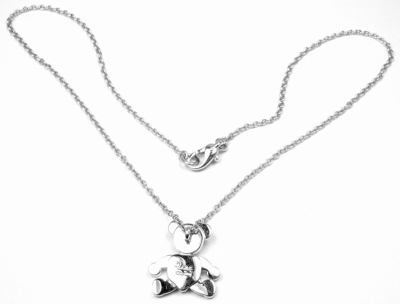 Pomellato Diamond Gold Teddy Bear Pendant Necklace 6