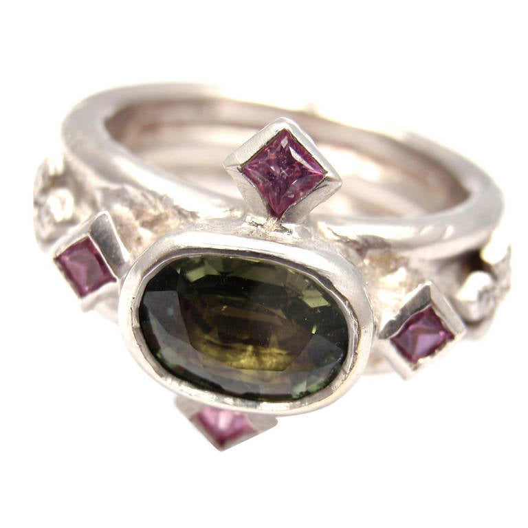 front style view with gold antique timeless stone alexandrite top rings ring white three sapphire lab jewelry and