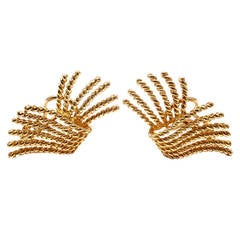 Tiffany & Co. Jean Schlumberger Rope Yellow Gold Earrings