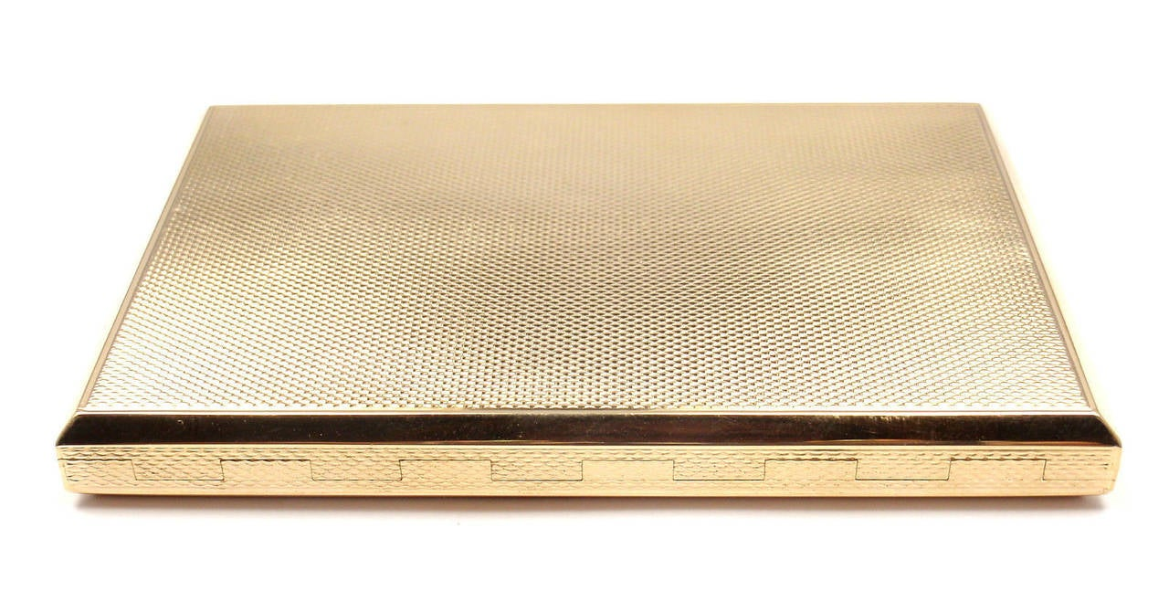Van Cleef and Arpels Sapphire Gold Business Card Case
