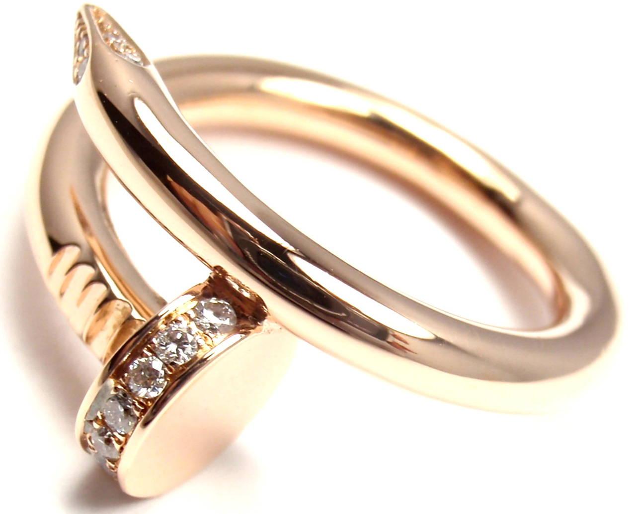 Cartier Juste un Clou Diamond Gold Nail Band Ring at 1stdibs