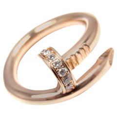 Cartier Juste un Clou Diamond Gold Nail Band Ring