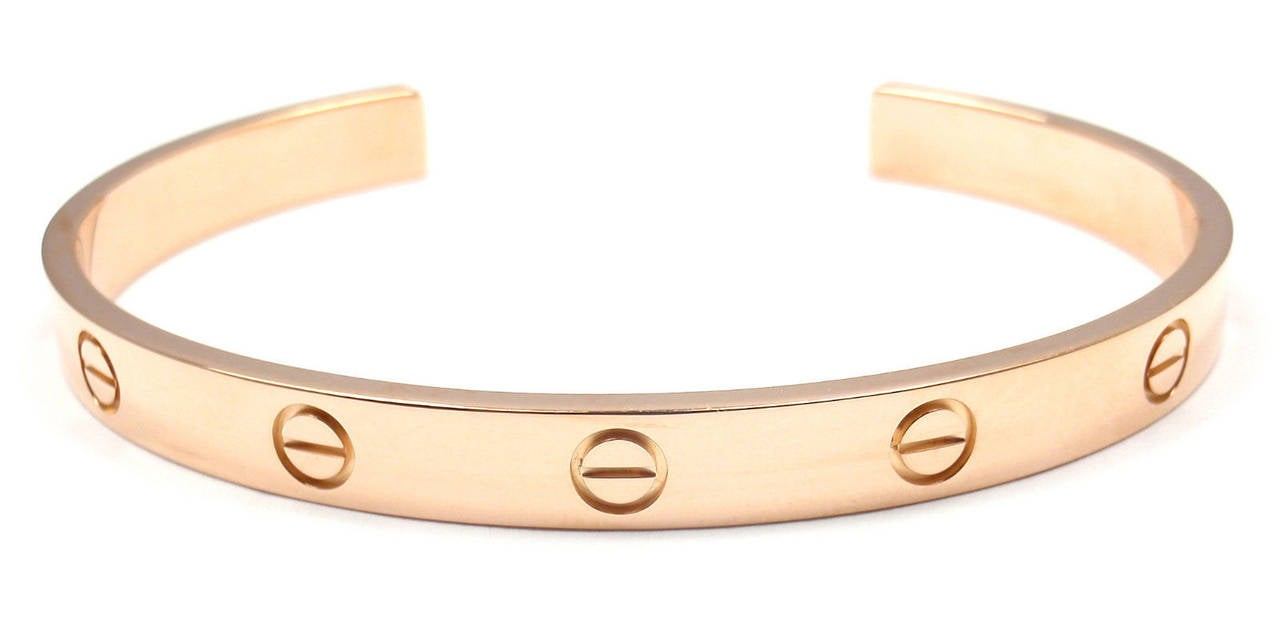 Cartier Love Rose Gold Open Cuff Bangle Bracelet At 1stdibs. Crystal Swarovski Bracelet. Silver Clasp Bangle. Power Pendant. Aunt Necklace. Stealth Watches. Gold Necklace Pendant. Diver Watches. Food Rings