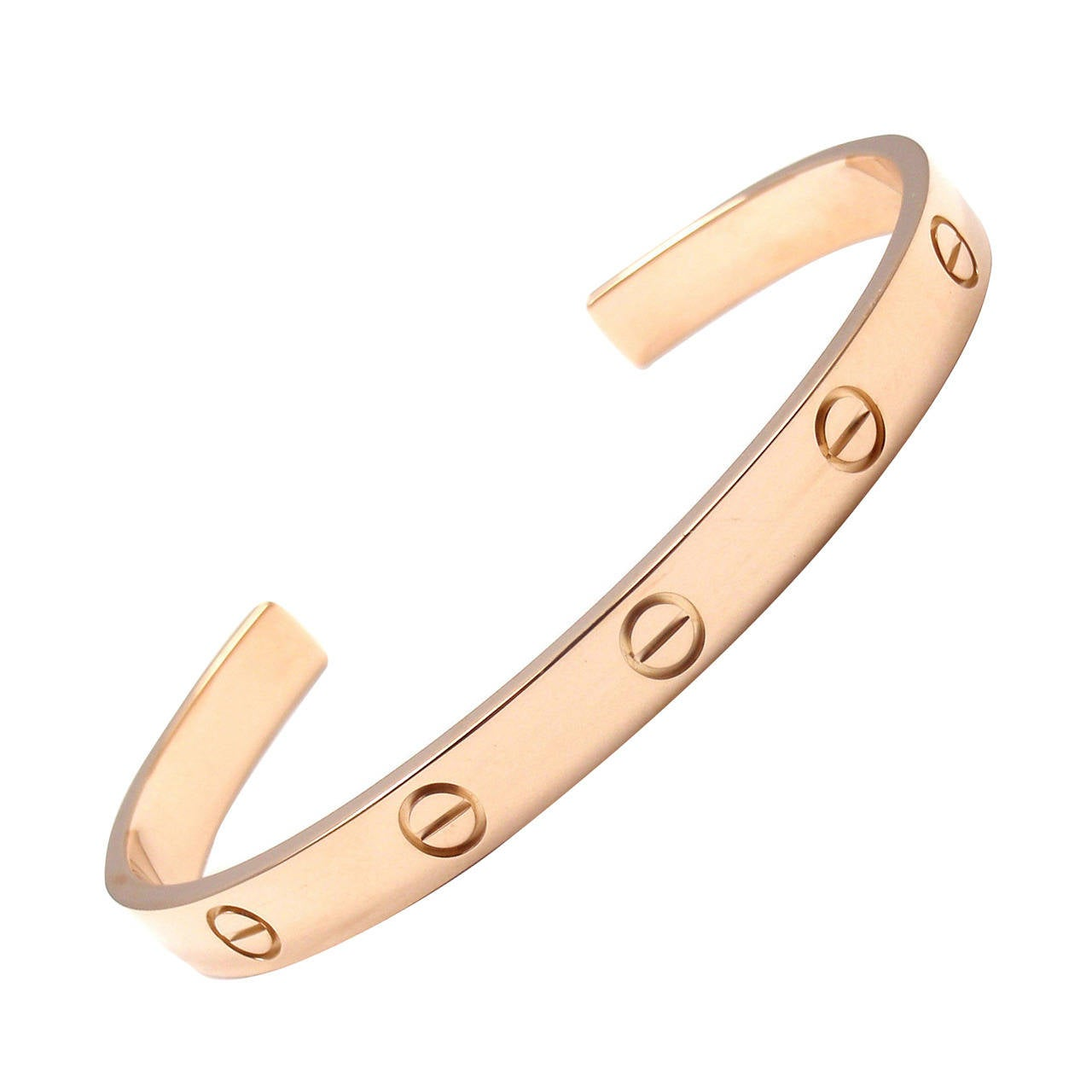 cbaed8d829226 Cartier Love Rose Gold Open Cuff Bangle Bracelet