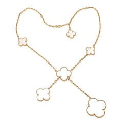 Van Cleef & Arpels Magic Alhambra Mother Of Pearl Yellow Gold Necklace
