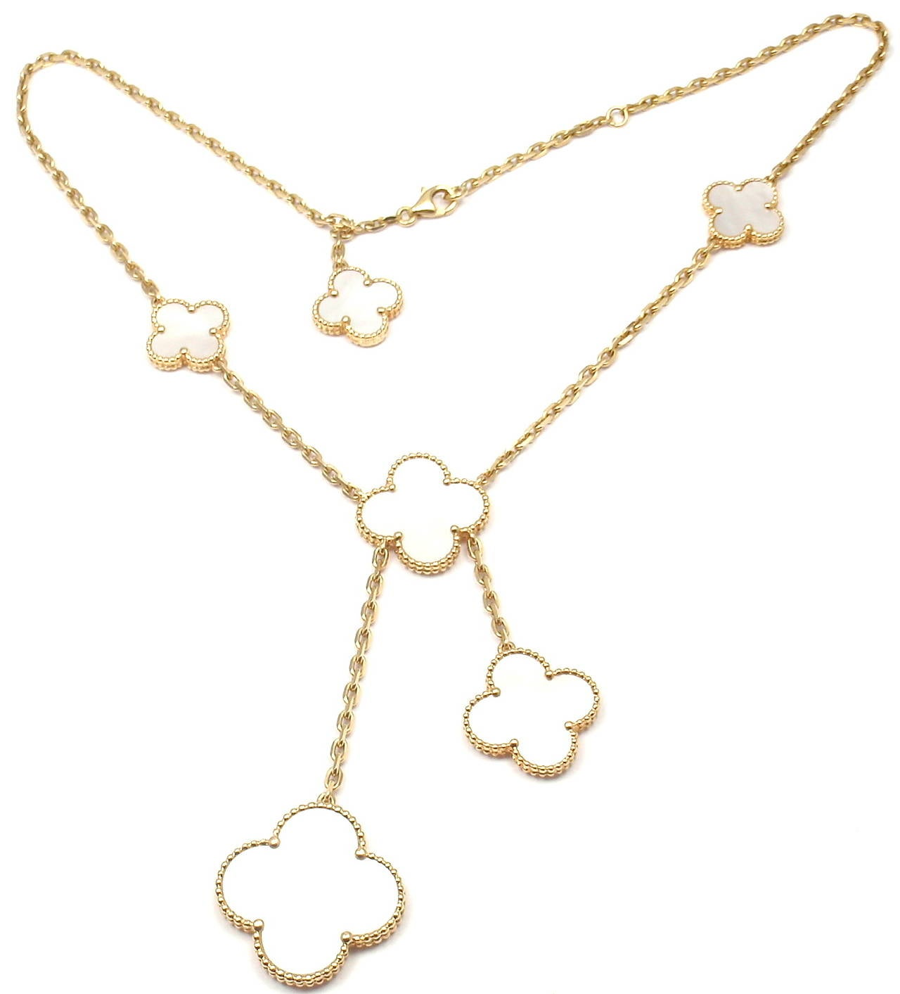 Van Cleef and Arpels Magic Alhambra Mother Of Pearl Yellow ...