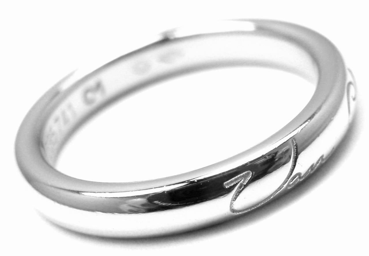 cleef and arpels toujours wedding platinum band ring