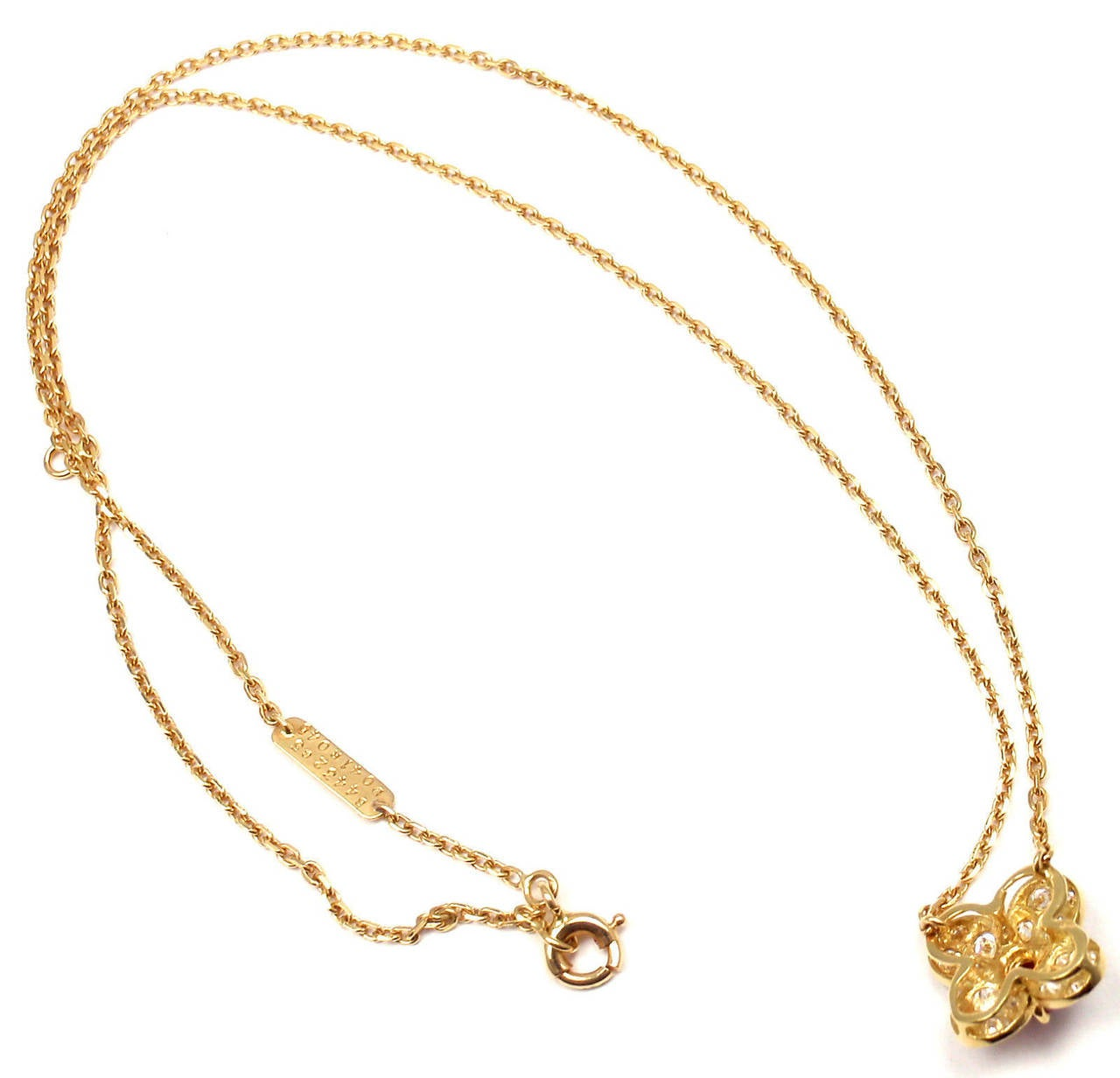 Clover Necklace Van Cleef: Van Cleef And Arpels Trefle Alhambra Diamond Ruby Clover