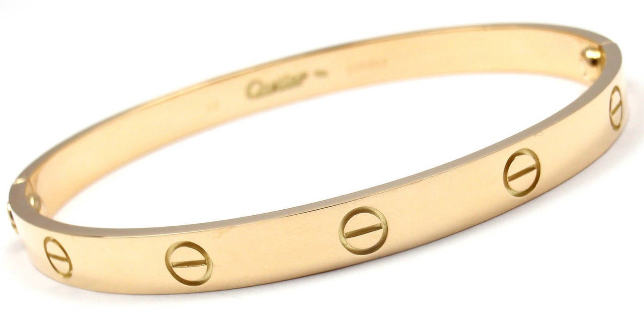 bangle i cartier bangles size popular gold tradesy yellow bracelet love