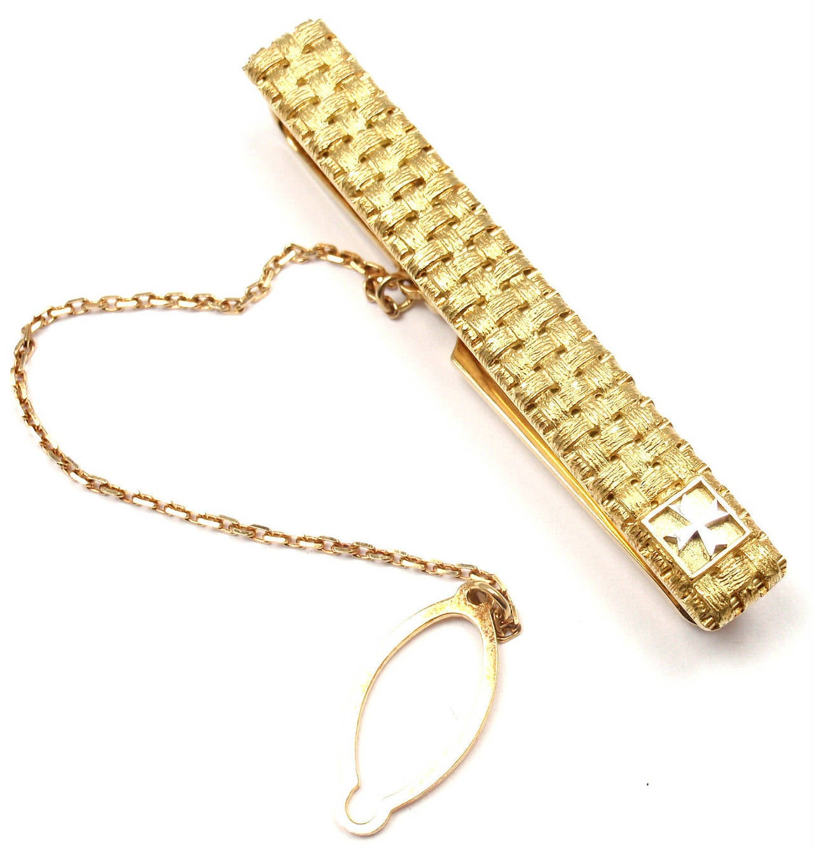 Vacheron Constantin Yellow Gold Platinum Cufflinks Tie