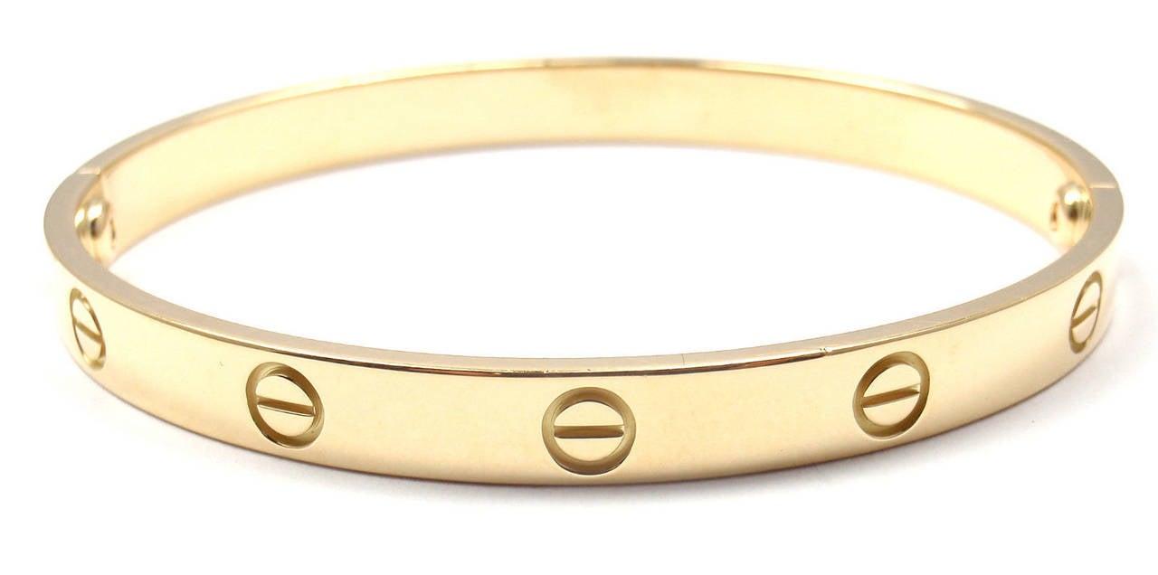 Cartier Love Yellow Gold Bangle Bracelet 2