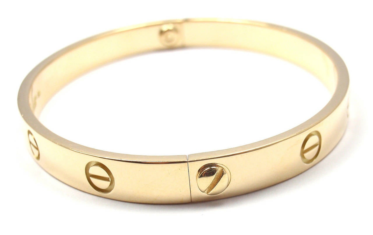 Cartier Love Yellow Gold Bangle Bracelet 3