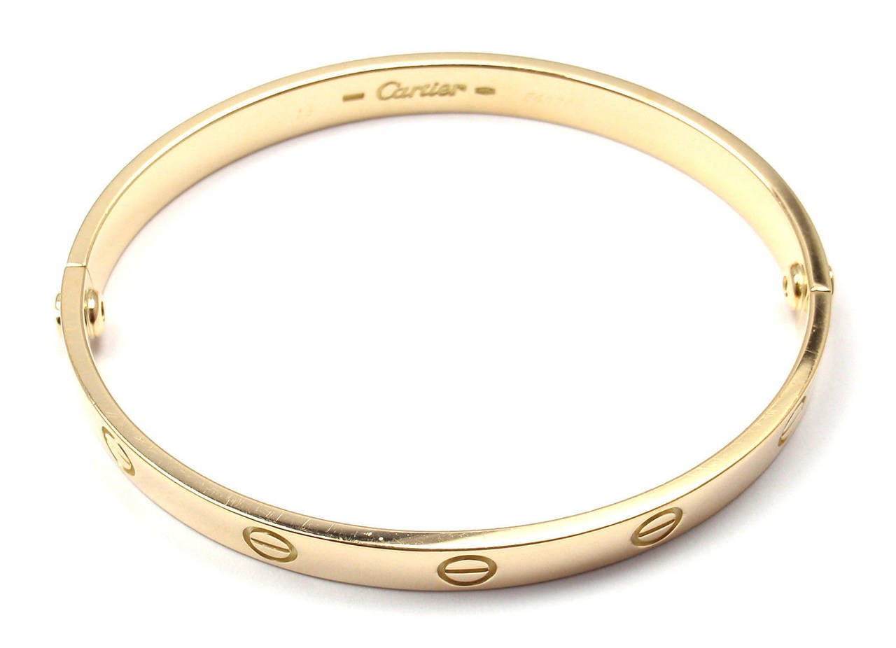 Cartier Love Yellow Gold Bangle Bracelet 7