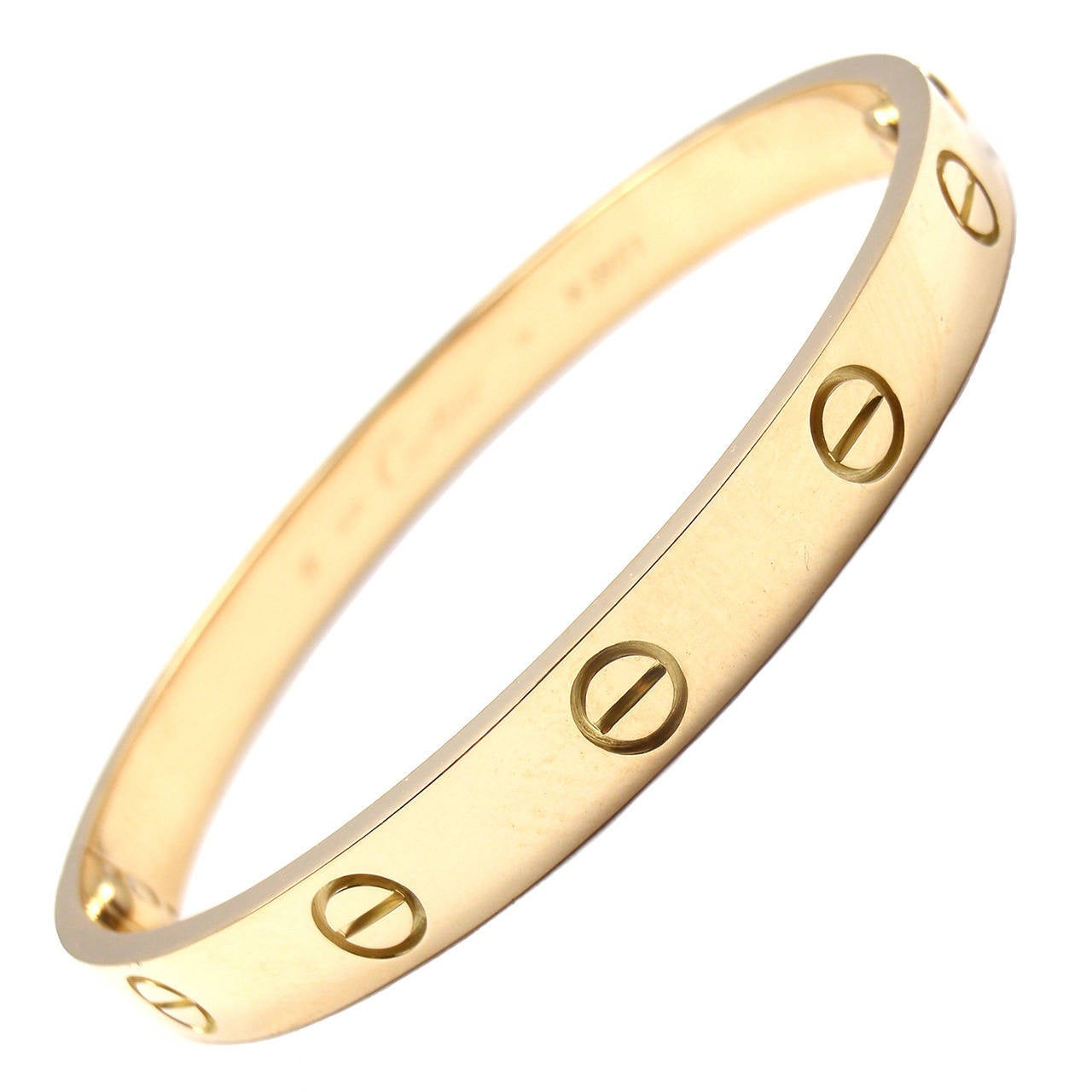 Cartier Love Yellow Gold Bangle Bracelet 1