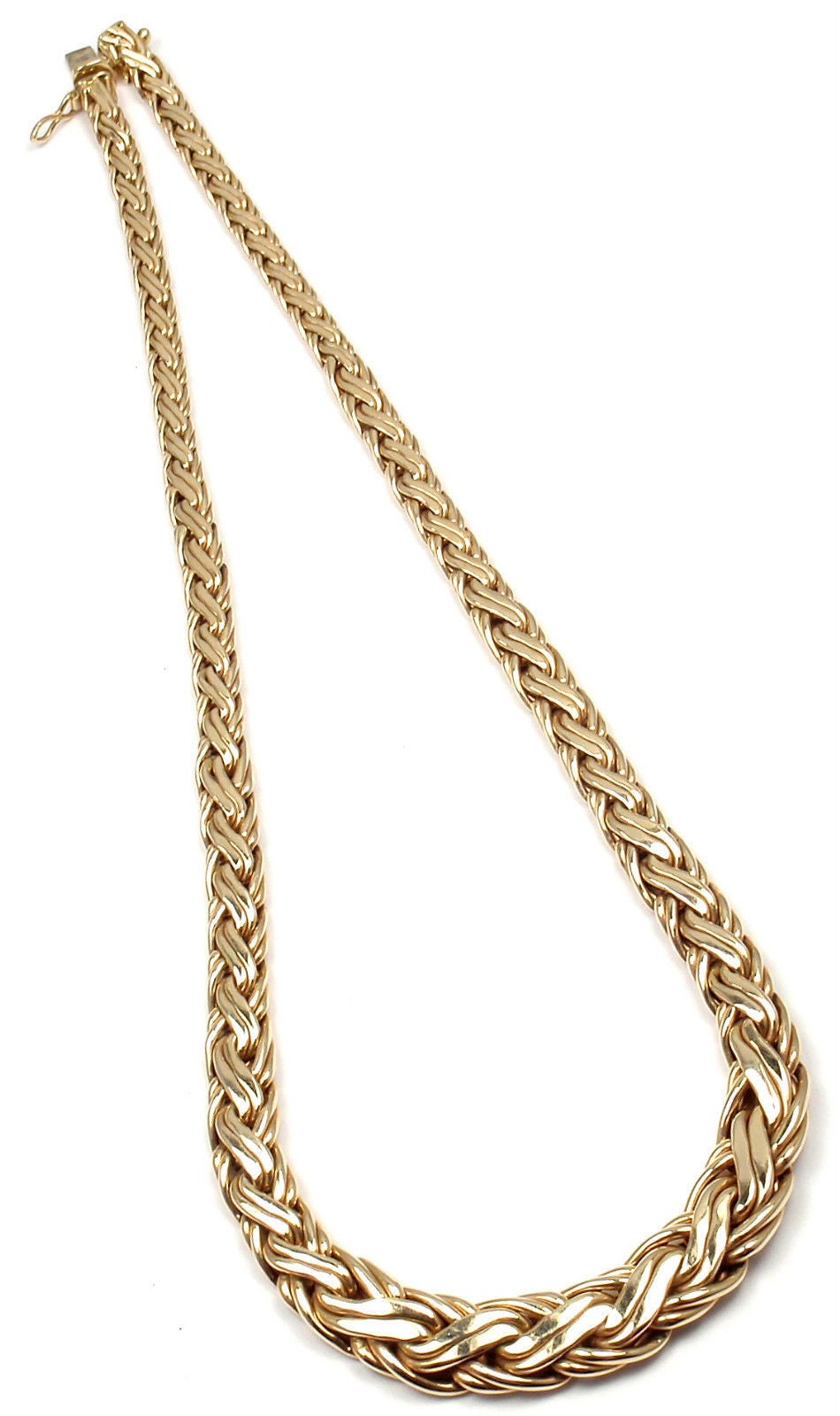 Tiffany & Co. Russian Weave Chain Link Yellow Gold Necklace 1