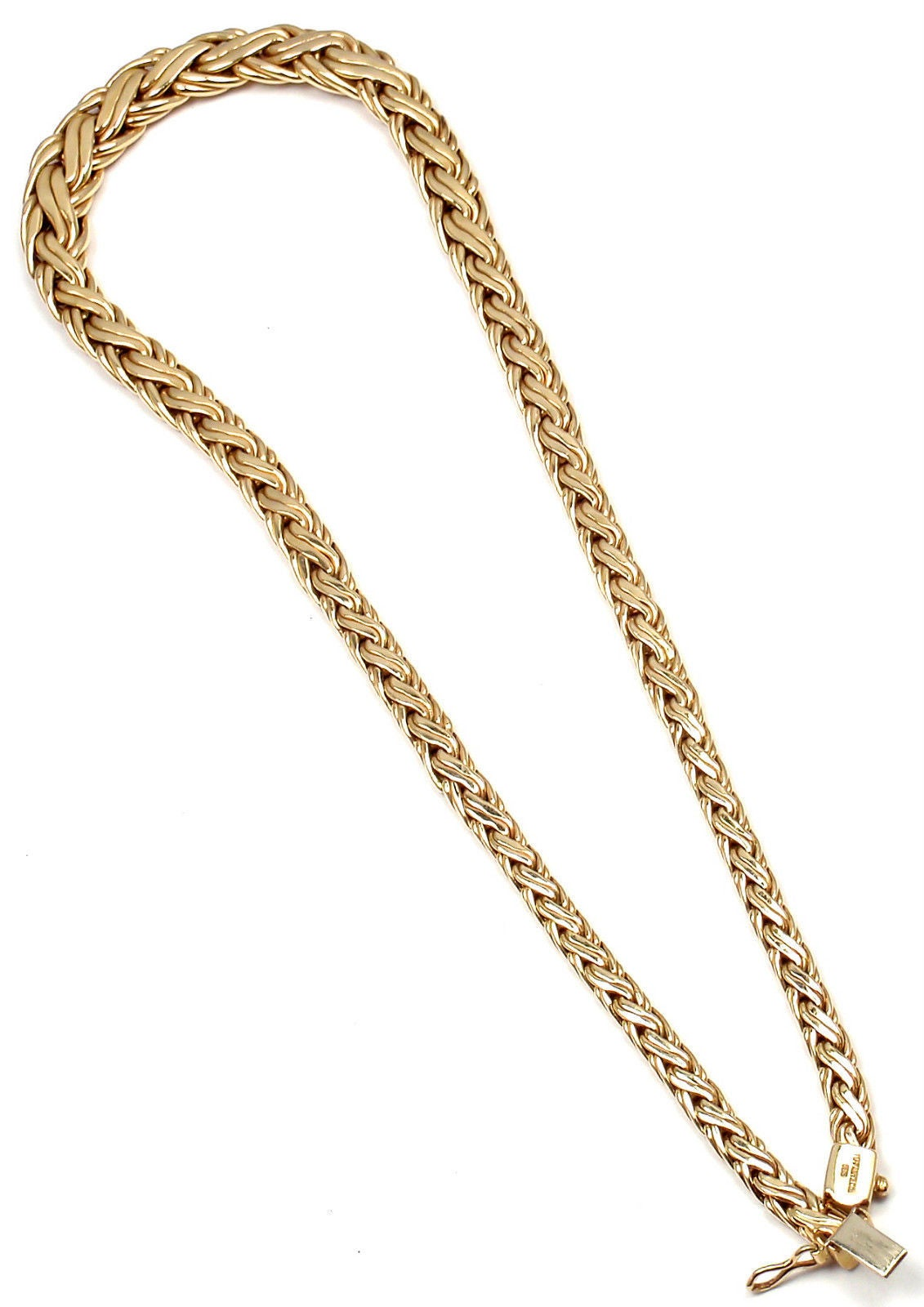 Tiffany & Co. Russian Weave Chain Link Yellow Gold Necklace 2