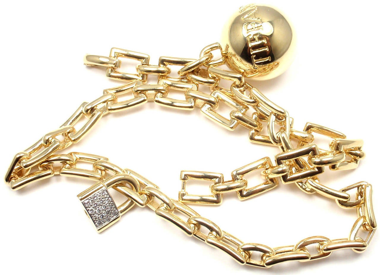 Tiffany & Co. Diamond Ball and Chain Yellow Gold Link Bracelet In New Condition For Sale In Holland, PA