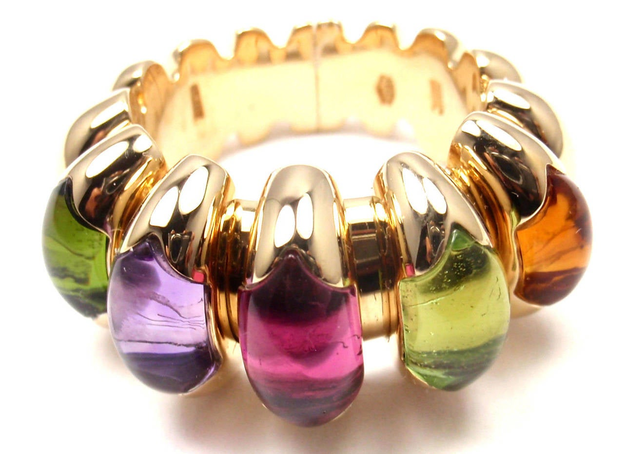 bulgari celtaura citrine peridot tourmaline amethyst yellow gold ring 2