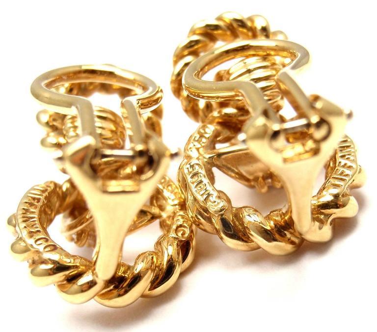 Tiffany & Co. Diamond Gold Earrings 7