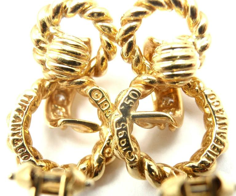 Tiffany & Co. Diamond Gold Earrings For Sale 2