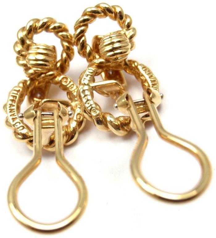 Tiffany & Co. Diamond Gold Earrings 5